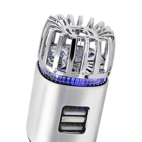 2-In-1 Purificatore D'aria Auto Ionizzatore, Deodorante Per Auto, 2 Dual USB Prese Di Ricarica Per Rimuovere Il Fumo, Fetore, Polvere, Polline, Batteri E Allergeni
