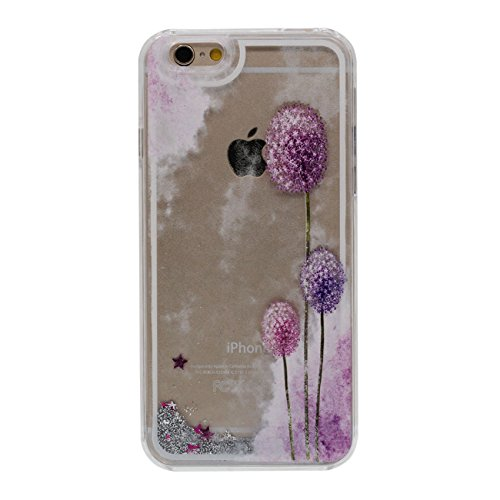 iPhone 6S Dur Étui de protection, Flowable Poudre / Liquide Beau Fleur Motif Serie Coque de Protection Case pour Apple iPhone 6 / 6S 4.7 inch Transparent Case a4