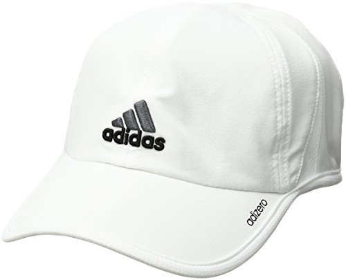 adidas Men's Adizero Cap, White/Black/Sharp Grey, One Size Fits All (Cap Adidas Jersey)