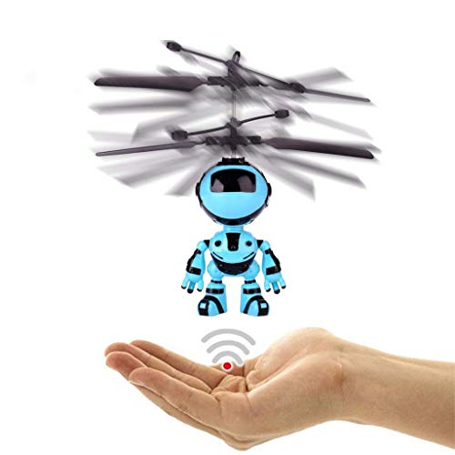 Y56 Fliegen Mini RC Infrarotinduktion Das Roboter Blinklicht spielt für Kindergeschenke Intelligenter Geschenk Billig (A)
