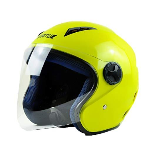 Casco moto Mezza Faccia Casco moto Anti Shock UV protezione con parasole, donne Outdoor Cap auto elettrica Safrty in tutte le stagio