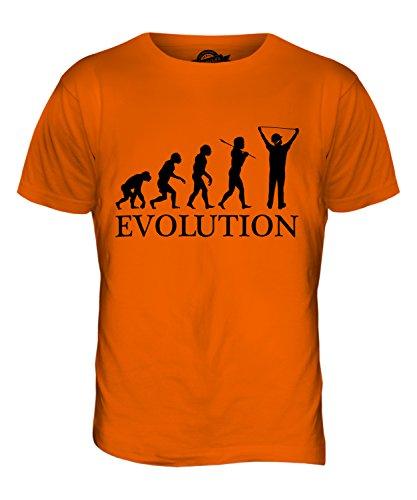 CandyMix Baukalkulator Evolution Des Menschen Herren T Shirt Orange