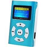 JACKY USB Mini MP3 Player LCD Screen Support 32GB Micro SD TF Card (Blue)