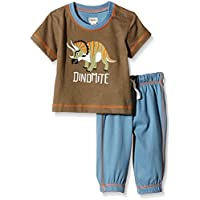 Hatley Baby Boys 0-24m Infant Tee & Track Pant Wild Dinos Clothing Set