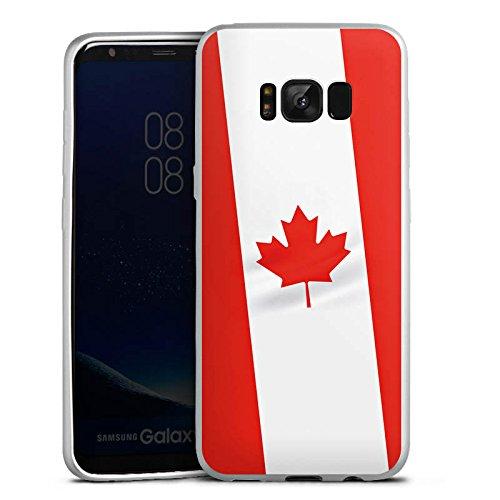 Samsung Galaxy S8 Silikon Hülle Silber Case Schutzhülle Kanada Flagge Flag
