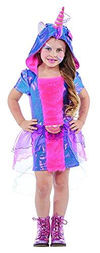 Pferd Lila Kostüm - Kinderkostüm Einhorn Gr 116 Kleid lila/pink Mädchen Kostüm Fasching Fantasy