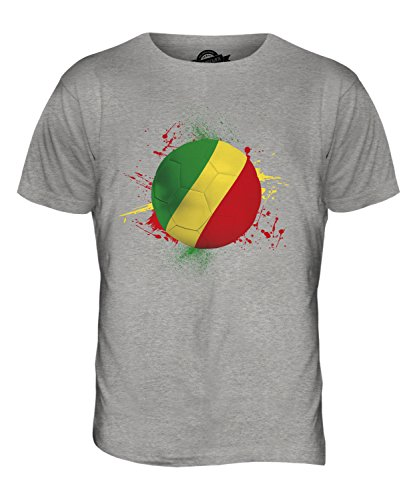 CandyMix Congo Fußball Herren T Shirt Grau Meliert