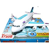 Vijaya Impex Bump and Go Aeroplane with Flashing Light and Musical Plane Toy for Kids, Best Gift for Children,Made in…