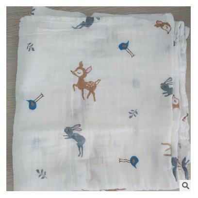 Musselin, Musselin, Swaddle Decke für Kinderwagen Buggy-Decke und Baby-Bett Reiner Baumwolle Decken Für Baby (Eule) ()