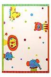 Sigikid Animal Festival Moderner Markenteppich, Polypropylen, Weiß, 200 x 133 x 1.3 cm