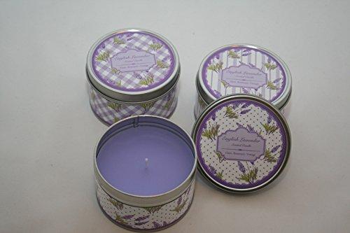 Lavendel Dosenkerze groß, Duftkerze, 780572