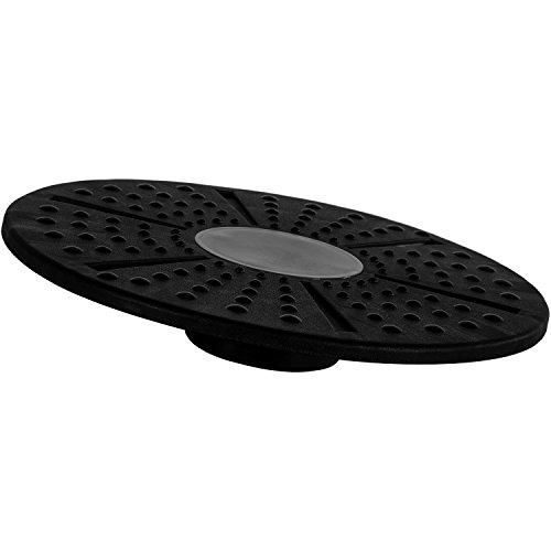 Movit Durchmesser 35, 5 Balance Board, Ø 35,5 cm, Therapie Reha Fitness Trainer Kreisel, Schwarz, one size