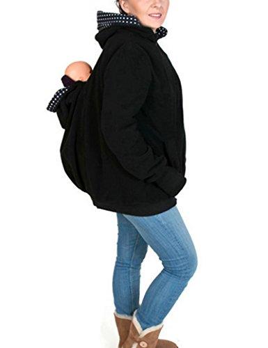Multifonction mère kangourou fashion-pulls des femmes BlueBlack