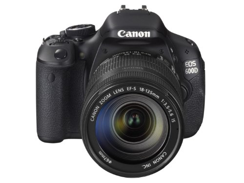 Canon EOS 600D SLR-Digitalkamera (18 Megapixel, 7,6 cm (3 Zoll) schwenkbares Display, Full HD) Kit inkl. EF-S 18-135mm 1:3,5-5,6 IS - 2