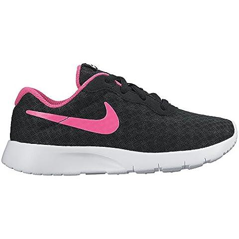 Nike Mädchen Tanjun (Ps) Turnschuhe, Negro / Rosa / Blanco (Black / Hyper Pink-White), 29.5