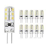 Sominue G4 LED Lampen 1.5W Warmweiß 3000K Birnen mit hoher Leuchtkraft, G4 110lumen 10er Pack DC12V 360°LED Leuchtmittel [Energieklasse A+]