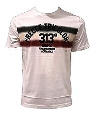 Idea Regalo - Aeronautica Militare t Shirt TS1620 Bianco, Frecce Tricolori, Uomo, Felpa, Maglia, Polo (XL)