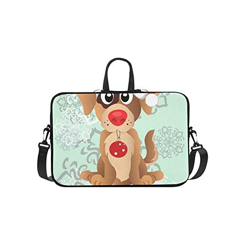 lpen Santas Weihnachten Hut Muster Aktentasche Laptoptasche Messenger Schultertasche Crossbody Handtasche für Geschäftsreisen ()