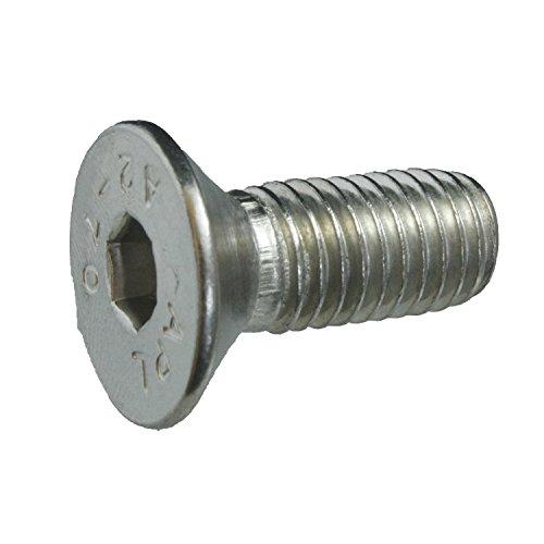 50 Senkkopfschrauben Edelstahl M10 x 25 mm – ISO 10642 / DIN 7991 – Senkschrauben mit Innensechskant und Vollgewinde – Werkstoff A2 (VA / V2A)
