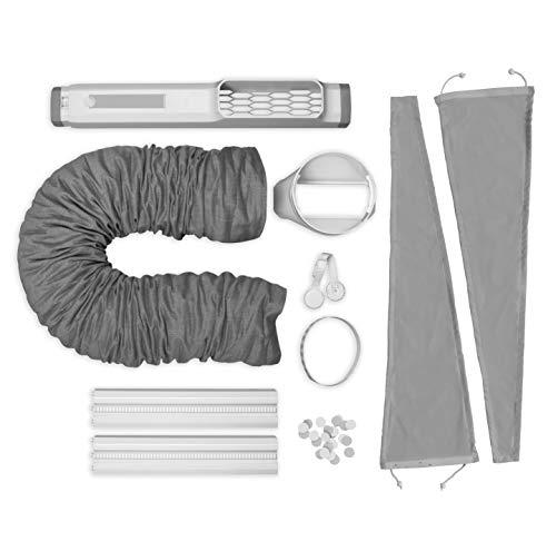 AEG AWK03 Premium Window-Kit Zubehör ideal für portable Klimaanlagen, schnelle Installation, stabile Verriegelung, ausziehbar, erweiterbar, passend für 15cm Schlauchdurchmesser, grau/weiß