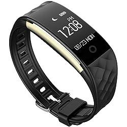 FEITONG Bluetooth 4.0 LED wasserdichte intelligente Armbanduhr Armband Sport Uhren Schwarz