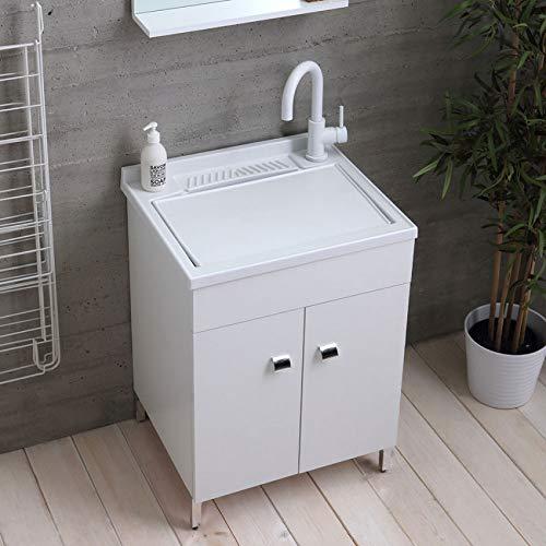 Mobile lavatoio Legno 60x50 50x50 45x50 ASSE lavapanni pilozza Vasca Resina Lavanderia