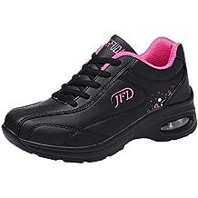 Zapatillas de Deporte Mujer ZARLLE Bota Invierno Mujer Zapatillas Mujer Casuales Zapatillas Deportivas con Cordones Antideslizantes