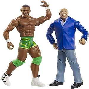 WWE- Pack de 2 Figuras de acción Kurt Angle y Jason Jordan (Mattel GBN52)