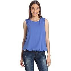 VERO MODA Women's Body Blouse Top (10143955_Amparo Blue_M)