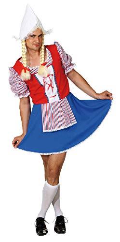narrenkiste O7321-58-60 bunt Herren Holländerin Holländer Kostüm Trachten Kleid - Holland Kostüm
