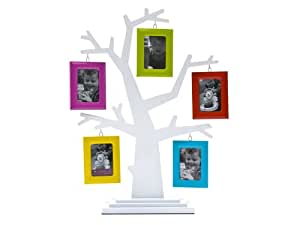 pt hm0265 cadre photos arbre g n alogique blanc et multicolore poly thyl ne pour 5 photos. Black Bedroom Furniture Sets. Home Design Ideas