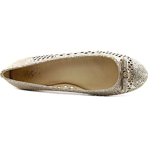 Vince Camuto Celindan Femmes Cuir Chaussure Plate Goddess Gold