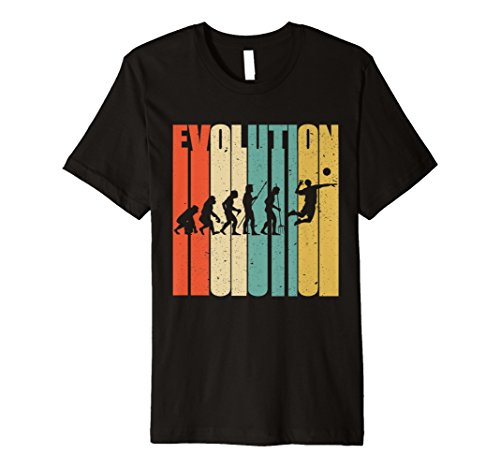 Evolution of Man Retro Vintage Volleyball T-Shirt Geschenk Shirt