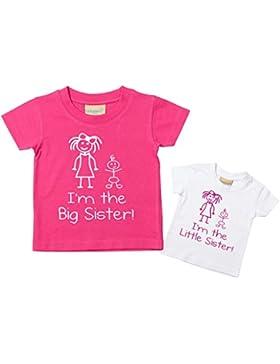 I'm The Little Schwester I'm The Big Schwester T-shirt Set Baby Kleinkind Kinder verfügbar in den Größen 0-6 Monate...