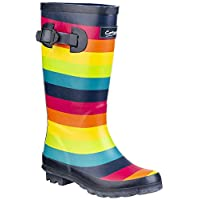 Cotswold Rainbow Girls Synthetic Material Wellies Multicoloured
