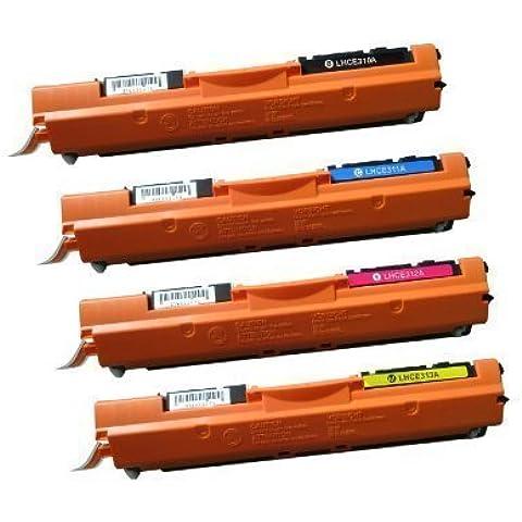 NEXTPAGE 4-Pack CE310A CE311A CE312A CE313A 126A Cartuchos Reemplace de Tóner compatible por HP LaserJet Pro CP1021 CP1025 CP1025nw M175A M175NW M275A M275NW - Set of Paquete - Negro / Cian / Magenta /