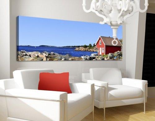 Preisvergleich Produktbild Apalis 42900 Leinwandbild Nummer 671 Urlaub im Norwegen, 120 x 40 cm