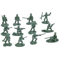 RENNICOCO 100pcs Soldados de Juguete de plástico Militar Figuras de Hombres del ejército 12 Plantea Regalo