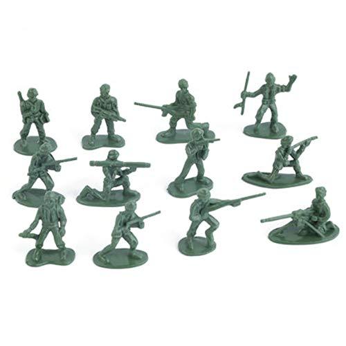 MNEFEL 100 stücke Military Kunststoff Spielzeug Soldaten Armee Männer Figuren 12 Posen Geschenk (Männer Spielzeug Armee Kunststoff)