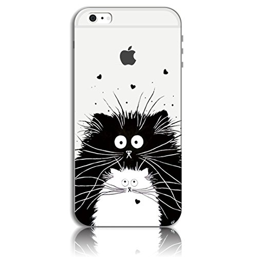 iPhone 6 Plus Cover, Bonice iPhone 6S Plus Custodia (5.5), Ultra Slim Thin Morbido TPU Clear Trasparente Animale Cat Case Pattern 02