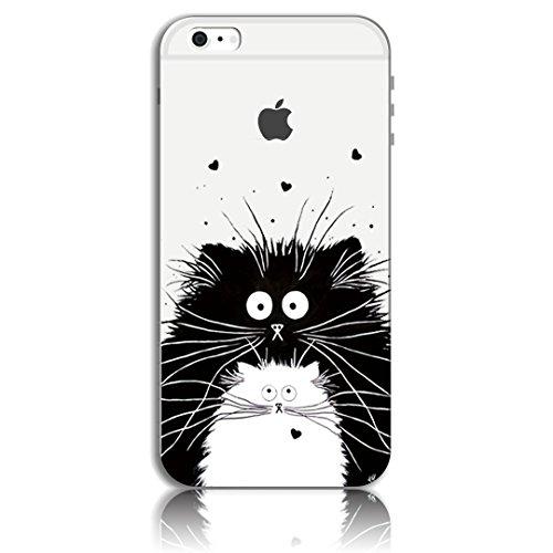 iPhone 6 Plus Cover, Bonice iPhone 6S Plus Custodia (5.5), Ultra Slim Thin Morbido TPU Clear Trasparente Animale Cat Case Pattern 02