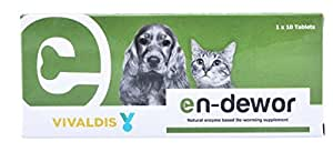 Vivaldis Endewor Natural Enzyme Based Deworming Supplement For Dogs And Cats 1X10 Tablets