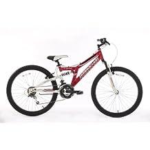 Barracuda Lynx Girls - Bicicleta de suspensión para niña, tamaño 14 / 24, color rosa / blanco