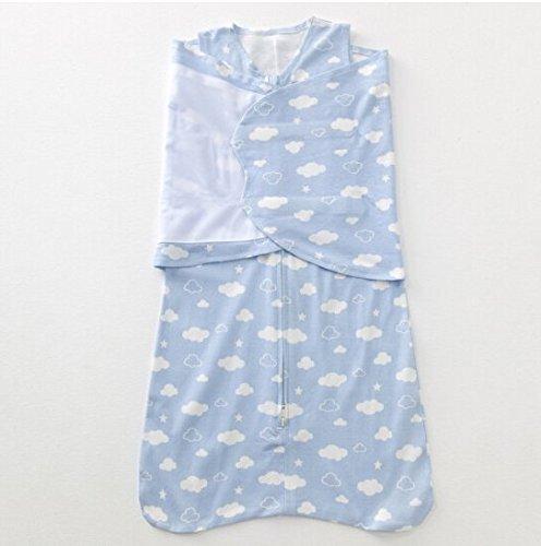 Artic Winter Liner (Classic Comfort Wickeltuch/Decke mit Kissen für Neugeborene Baby 67cm Größe: Länge 70cm, Anzug Jahr: 0–6Jahre blau)