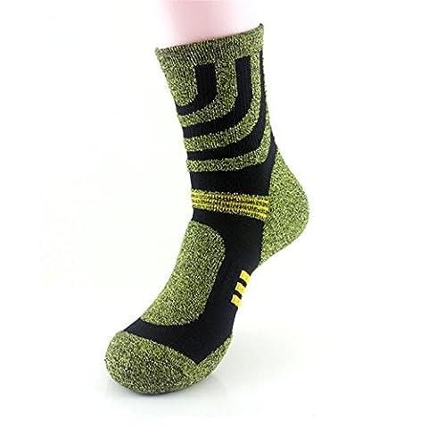 Sweetauk - Chaussettes de sport - Homme taille unique - vert - Taille Unique