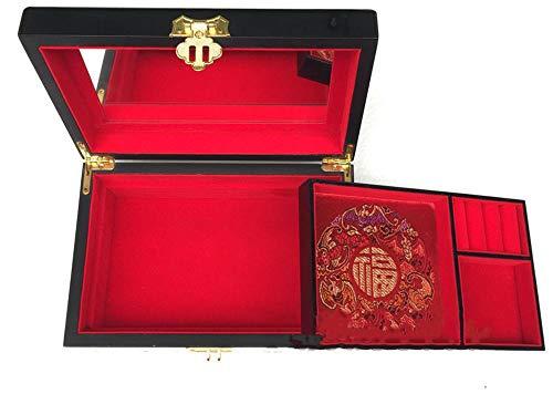 irugh Drücken Sie Licht Lack Ware Box chinesische Schmuck Box handbemalte antike Schmuckschatulle chinesische Aufbewahrungsbox -
