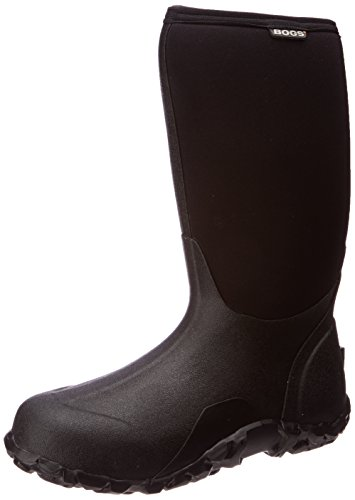 MENS BOGS CLASSIC HIGH BLACK INSULATED WARM WATERPROOF WELLIES BOOT 60142-UK 16 (EU 50) (Welly Warmers)