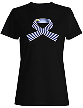 Nuevo Uruguay Bandera Viajes De Arte camiseta de las mujeres l895f