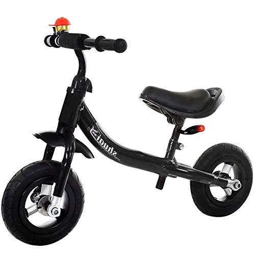 Laufrad,Kinder Balance Fahrrad Erste Training Bike Gummi Titan Reifen 1-4 Jahre Alte Baby-Praxis,Black