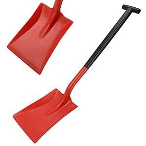 Harold Moore General Purpose Snow Shovel Heavy Duty Snowburner Standard Blade T Grip Solid Reinforced Shaft - Red